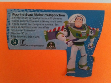 Backlog item example... Buzz l'Eclair